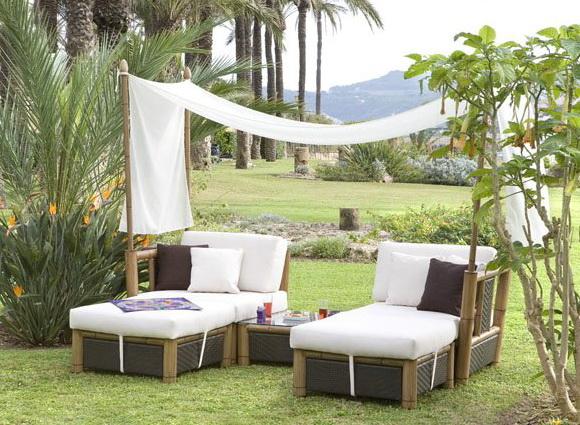 C mo ambientar el jard n con lo ltimo en dise o y muebles de exterior mantemiento jardin - Muebles exterior tela nautica ...