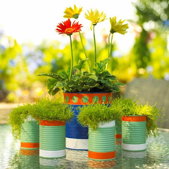Macetas recicladas una opci n en el jard n macetas flor - Macetas de jardin ...