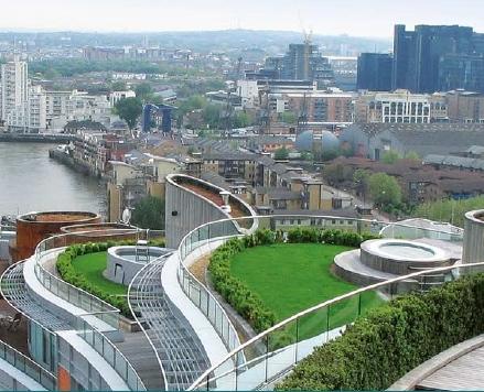Terrazas verdes preparacion del techo paisajismo flor for Terrazas ajardinadas