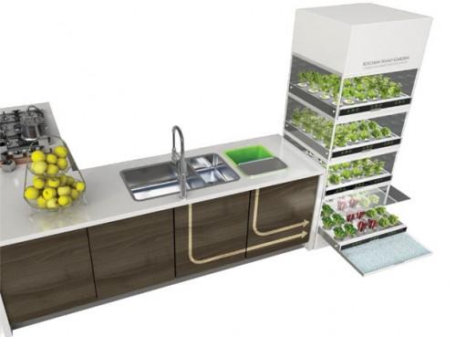 Huertas verticales para tu cocina: Kitchen Nano Garden de Hyundai
