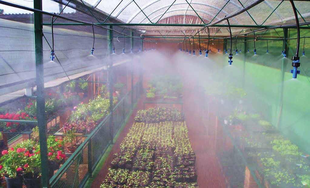 Sistemas de riego por nebulización: Usos, ventajas e inconvenientes