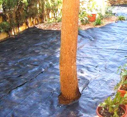Mallas o telas antihierba ventajas desventajas y for Como evitar que salga hierba en el jardin
