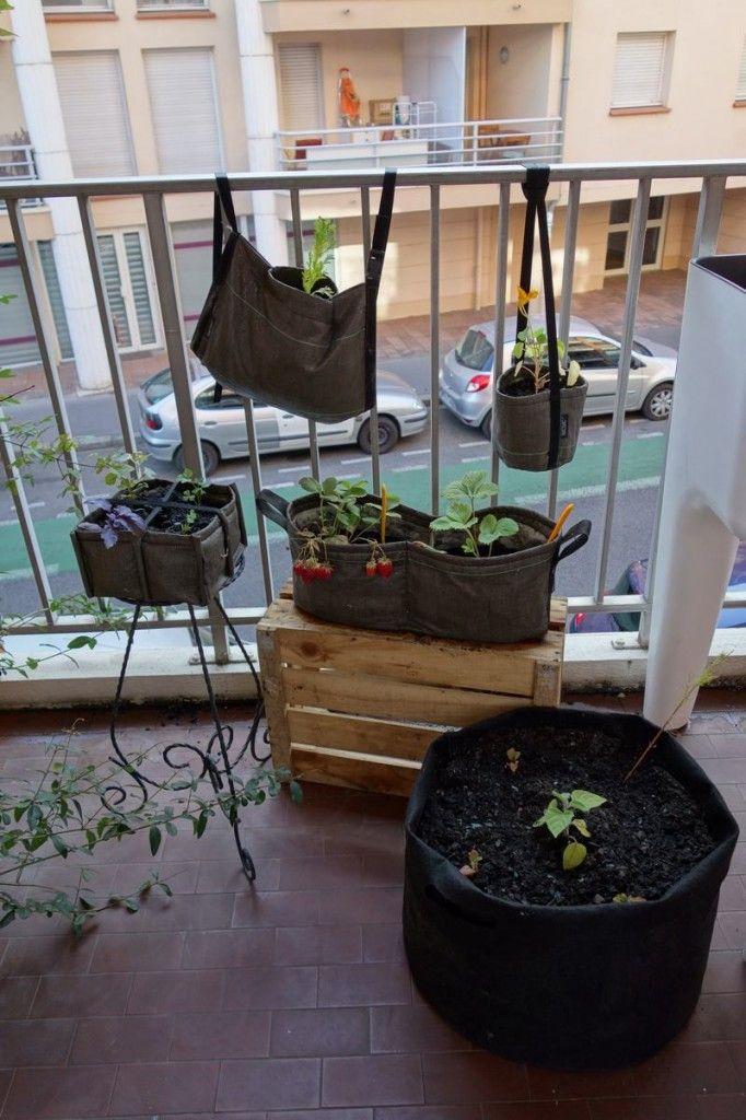 Jardineras de geotextil, una interesante solución para tener un pequeño huerto urbano