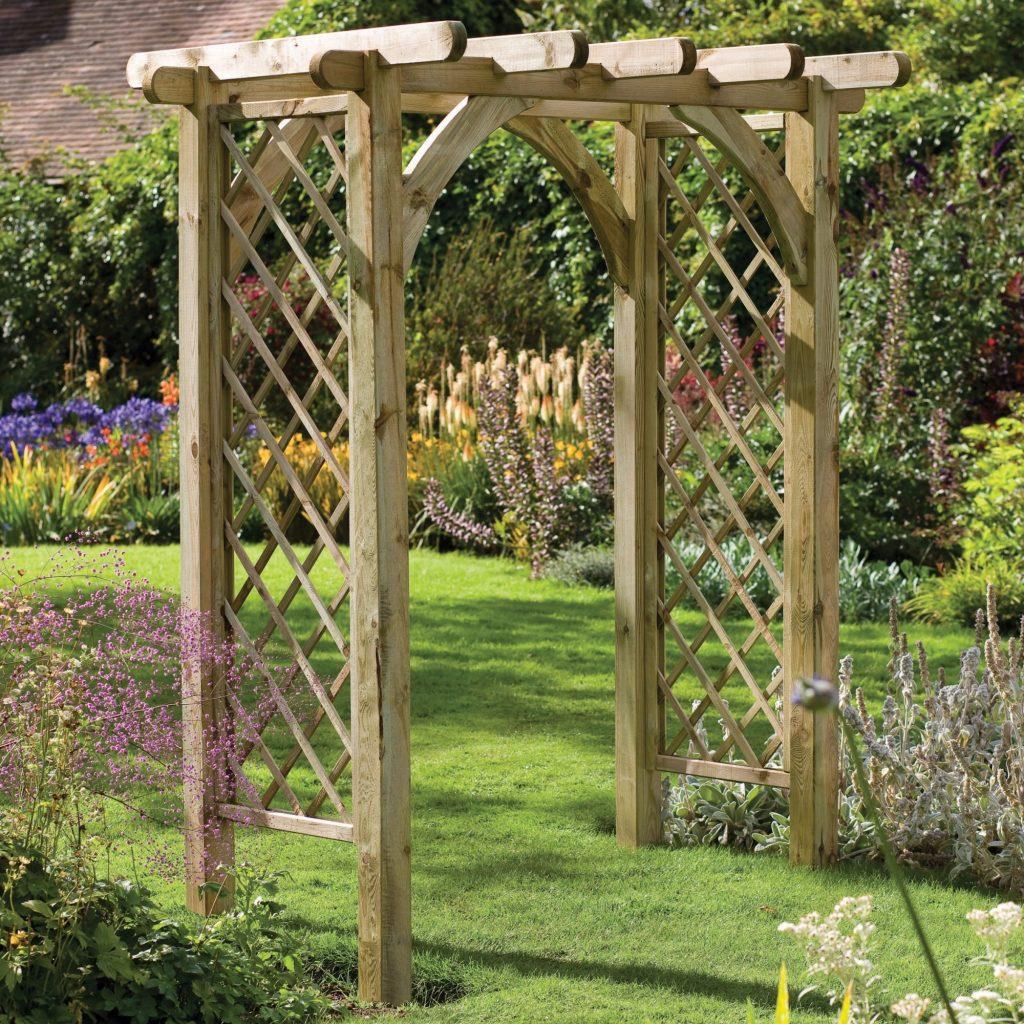 C mo construir una p rgola en jardines terrazas y patios dise o jardin flor de planta flor - Pergolas para jardines ...