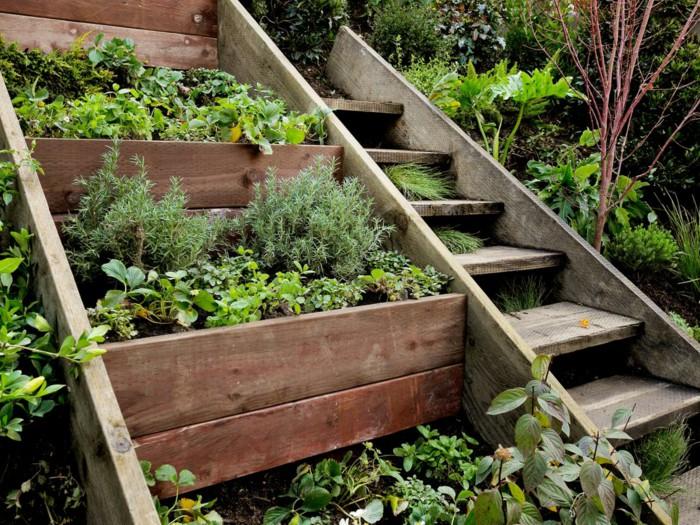 Dise o de jardines escalinatas en terrenos con desniveles dise o jardin flor de planta flor - Gartentreppe hang ...